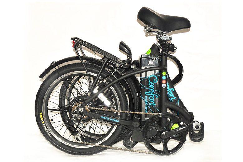 אופני קומפורט במצב מקופל