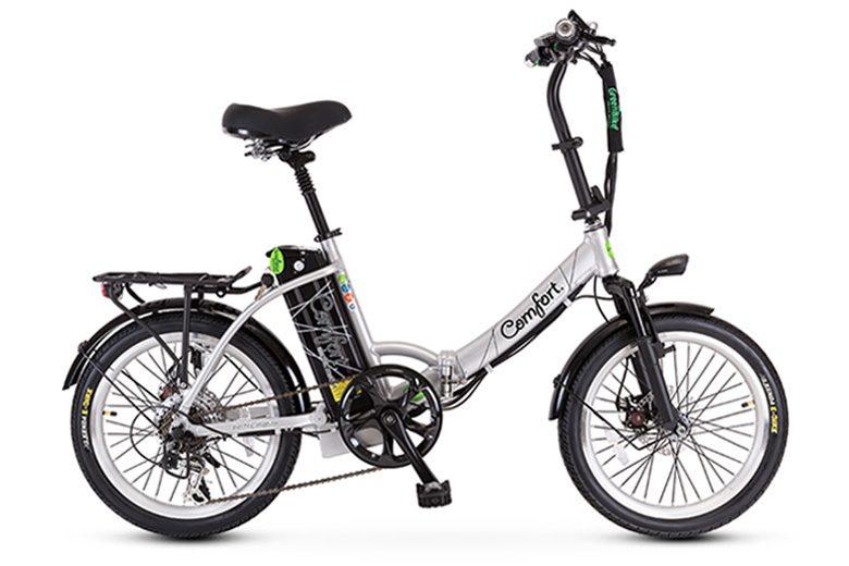 אופני קומפורט בצבע כסוף מבית גרין בייק