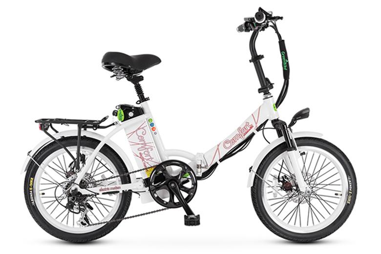 אופני קומפורט בצבע לבן מבית גרין בייק