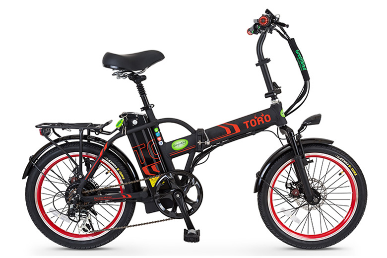 אופני טורו בצבע שחור אדום מבית גרין ביק
