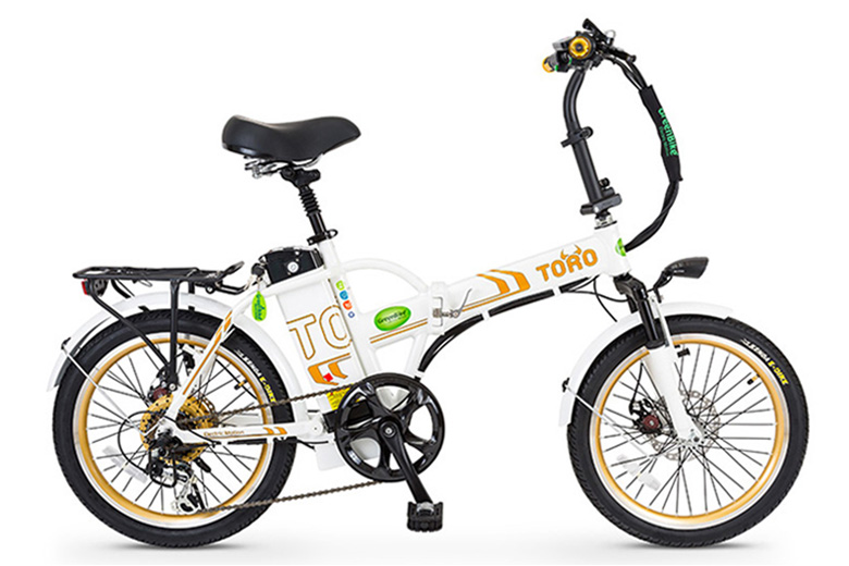 אופני טורו בצבע לבן זהב מבית גרין ביק