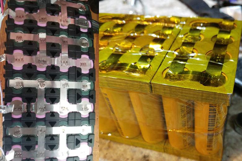 מבנה פנימי של סוללה לאופניים חשמליים