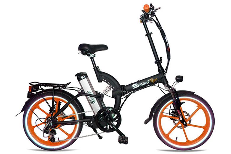אופניים חשמלים שיקו טייגר שחור כתום