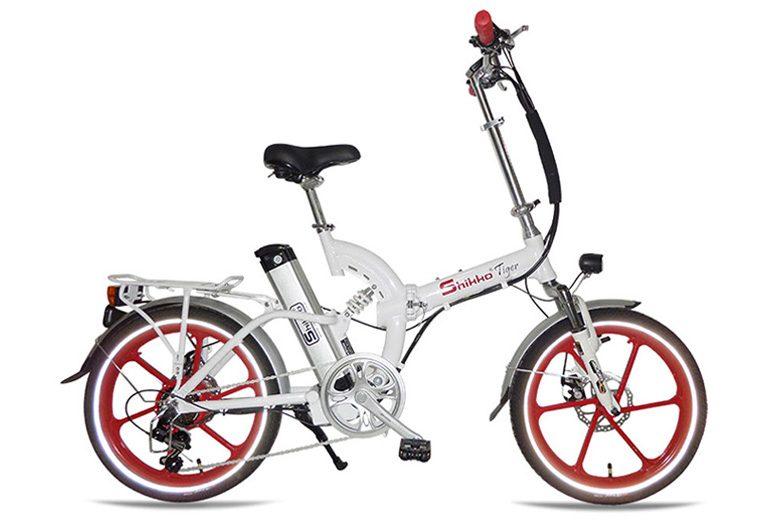אופניים חשמלים שיקו טייגר לבנים