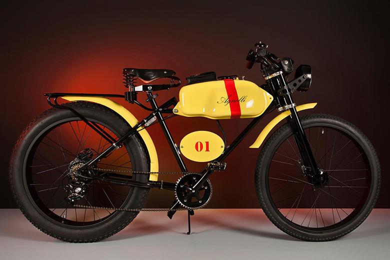 אופניים חשמליים בעיצוב של אומן