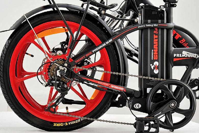 אופניים חשמליים סמארט בייק m48 במצב מקופל