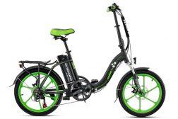 אופניים חשמליים nexus-mag בצבע שחור-ירוק מבית עולם הגלגלים