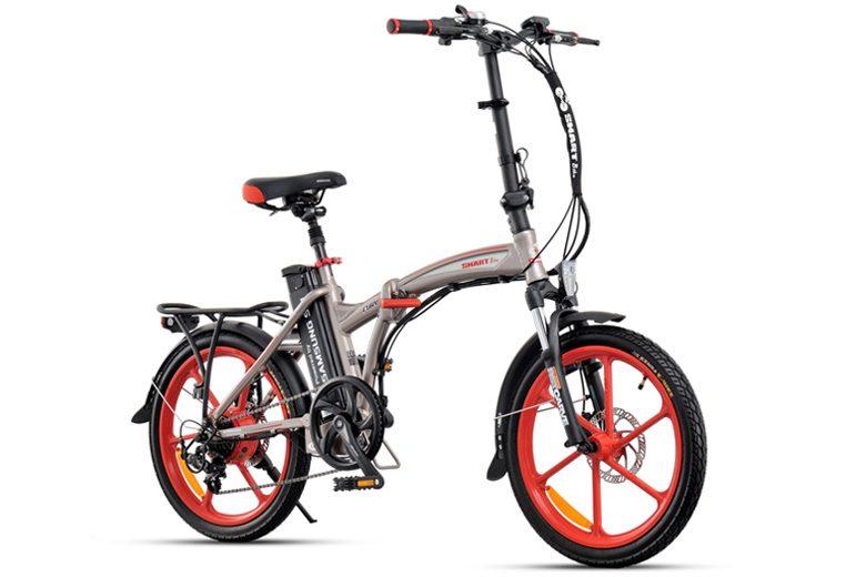 אופניים חשמליים smart-fury בצבע אפור