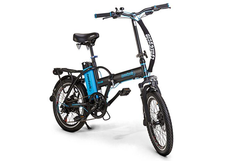 אופניים חשמלים אופניים חשמליים lynxcycle בצבע אפור כחול