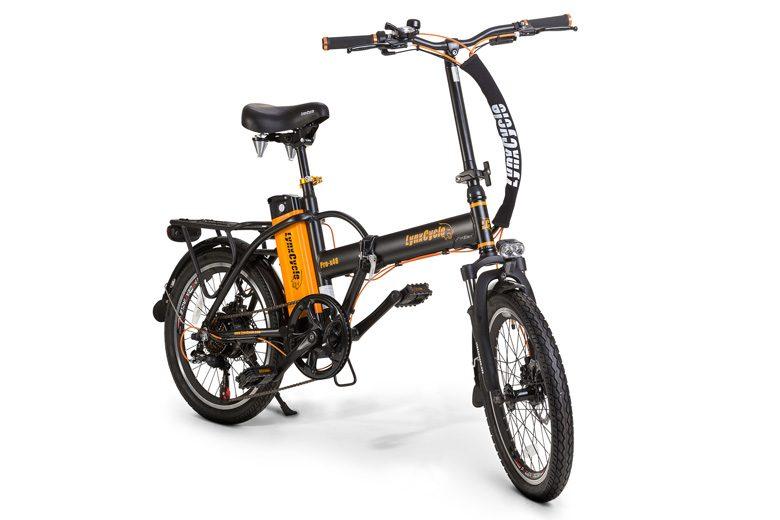 אופניים חשמליים lynxcycle בצבע שחור כתום