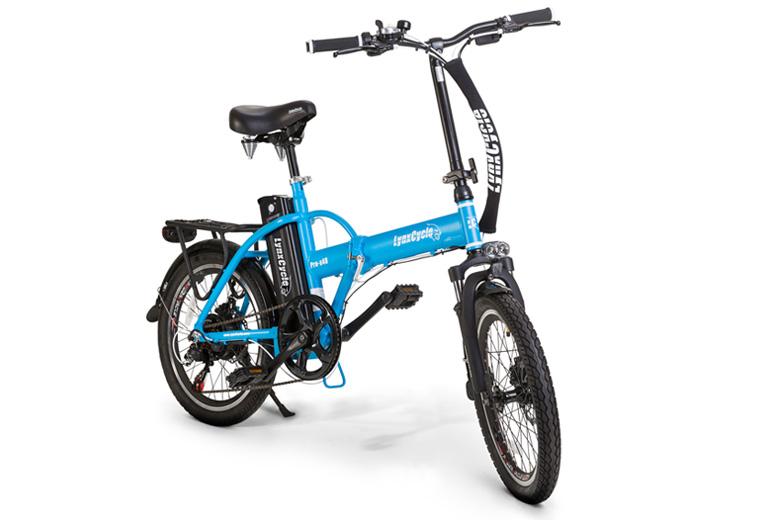אופניים חשמליים lynxcycle בצבע תכלת