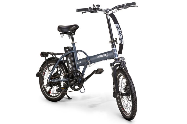 אופניים חשמליים lynxcycle בצבע אפור