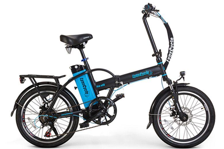 אופניים חשמליים lynxcycle מבית מגנום בצבעשחור תכלת