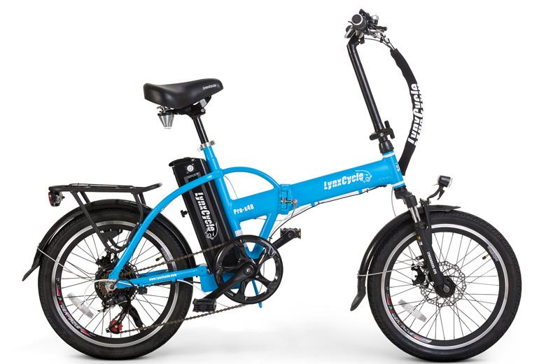 אופניים חשמליים lynxcycle מבית מגנום בצבע תכלת