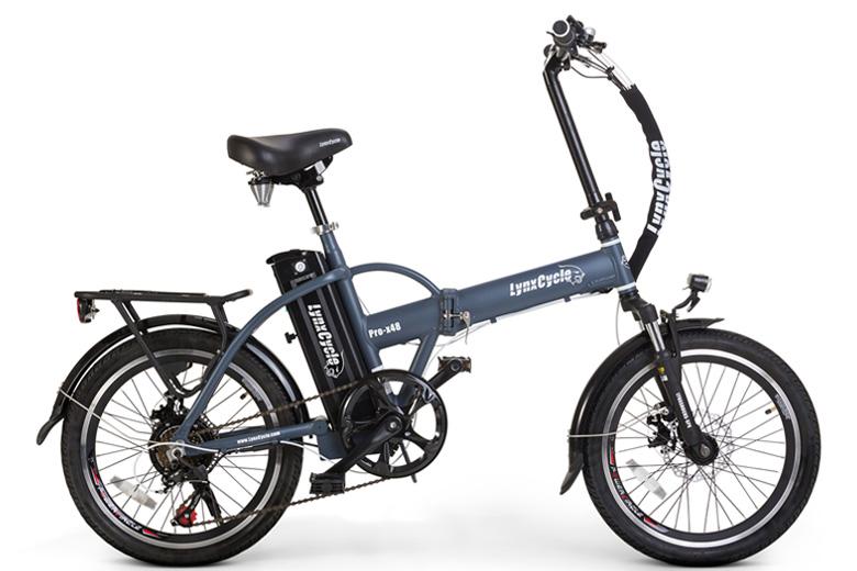 אופניים חשמליים lynxcycle מבית מגנום בצבע אפור